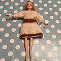 Vestiaire de Barbie : la robe ballon manches 3/4 Chantilly & Caramel