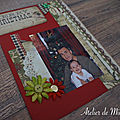Une double page <b>Project</b> <b>Life</b> de Noël