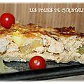 Quiche poulet , poivrons ,courgette, fromage