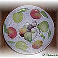 Plat à fruits