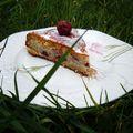 Divin gâteau fondant cerises / amandes... (sans beurre, sans oeufs)
