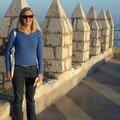 Péniscola-sur la muraille du chateau