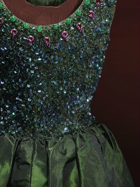 Dress (detail), Cristobal Balenciaga, 1962