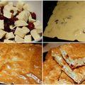 Blondie aux canneberges séchées et chocolat blanc