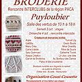 Rencontre de brodeuses à puyloubier... les 3 et 4 octobre 2015