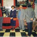 Jan. 93, Fernand Aguas, Janine et René Jabot et M. Huart