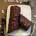 Bûche de noël au chocolat et mousse de marrons