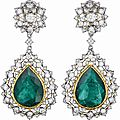 Buccellati. An Impressive Pair of <b>Emerald</b> and Diamond Ear Pendants