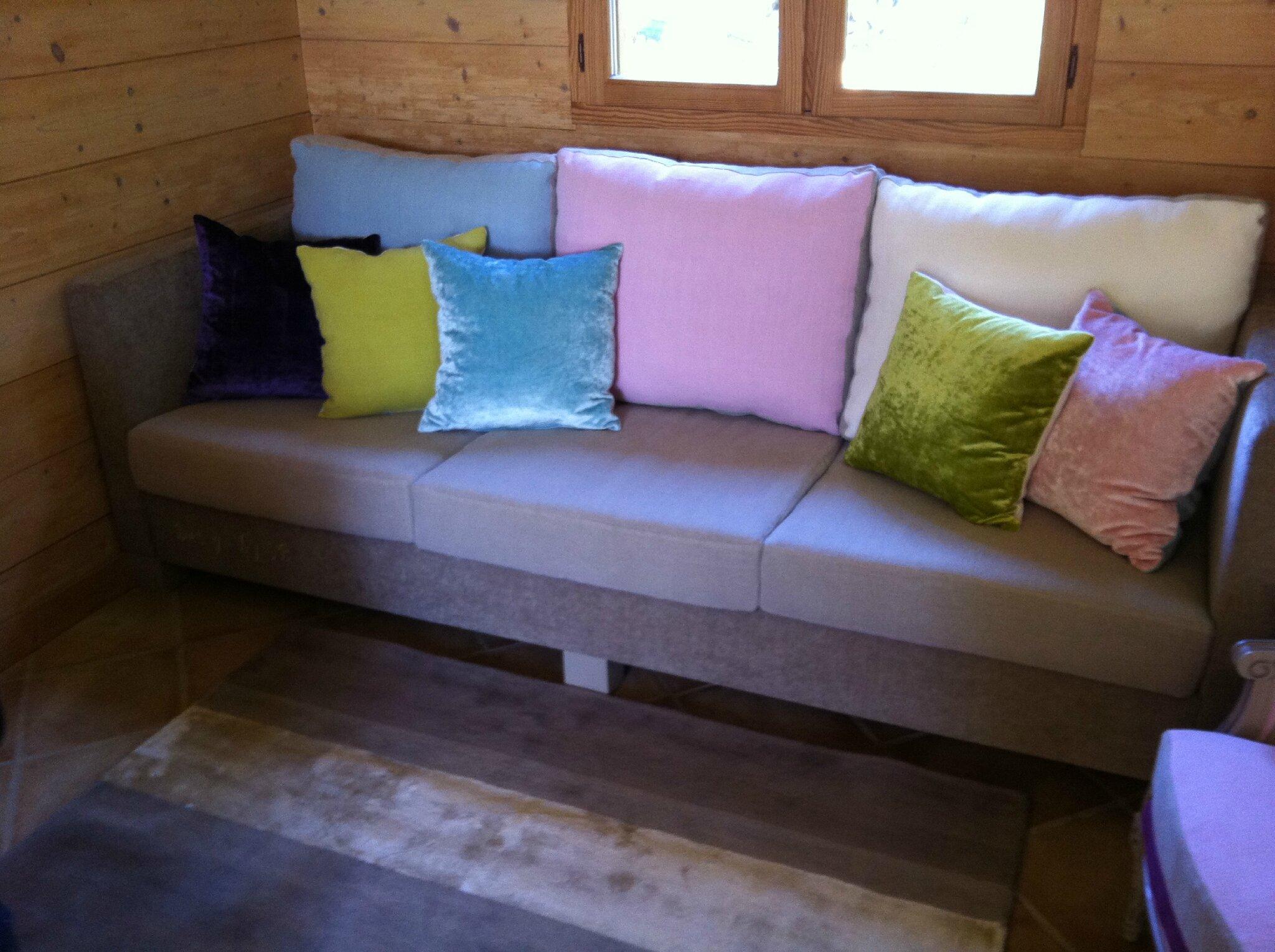 Canapé sur mesure Velours et lin