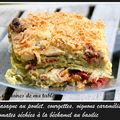 Lasagne au poulet, courgettes, tomates séchées et béchamel au basilic