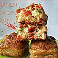 Mini-cakes saumon & poivrons rouges
