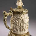 Tankard: The Abduction of the Sabine Women, and Samson and the Lion 1697