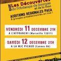 Auditions du Printemps de Bourges à la MJC <b>Picaud</b> - Cannes