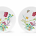 A pair of famille rose 'boneless' saucer dishes, yongzheng six-character marks and of the period (1723-1735)