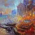 Gérard valtier, les feux du soir vénitien