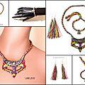 *** superbe parure (collier, bracelet, b.o) ***