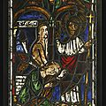 French, first half 13th century and later, <b>Window</b> with one of the Miracles of Christ