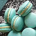 Macaron ganache au chocolat blanc-coco