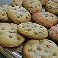 Cookies chocolat au lait et caramel a la fleur de sel