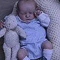 nurserie la main sur le berceau bébé reborn