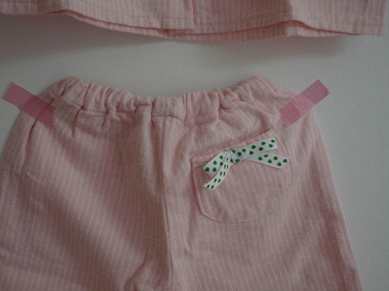 pyjama pilou rose dos poche