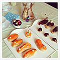 Goûter de pâques : éclairs aux agrumes et chocolat