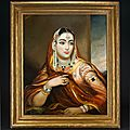 George Duncan Beechey (1798-1852), Portrait of Begum of Oudh, Lucknow, India, <b>circa</b> <b>1840</b>