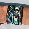 Bracelet Brésilien Manchette 'Hipanema Style'