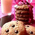 Cookies aux amandes grillées et pépites de chocolat