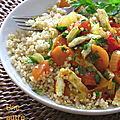 Quinoa aux légumes et omelette