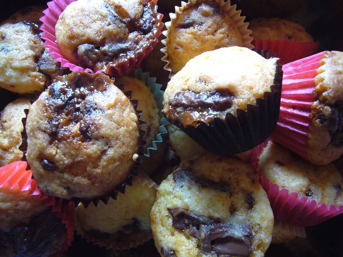 muffins caramel chocolat au lait