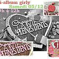 Atelier mini-album girly le 05/12 au matin