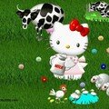 KITTY ELEVE DES VACHES 2