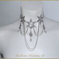 Collier Mariage Elfique Reine Neige Medieval Fantasy Frozen Ice Queen <b>Elven</b> Snowflake Wedding necklace