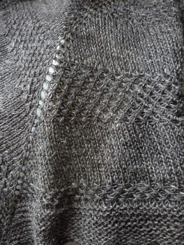 Textured shawl perene couleur terre