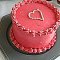 Layer cake vanille tout rose