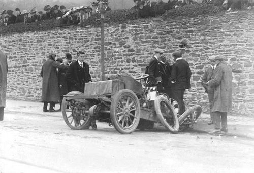 1904 gordon bennett trials, isle of man - clifford earp (napier 55hp) acc 3