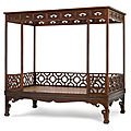 A <b>huanghuali</b> six-post canopy bed, Late Ming dynasty