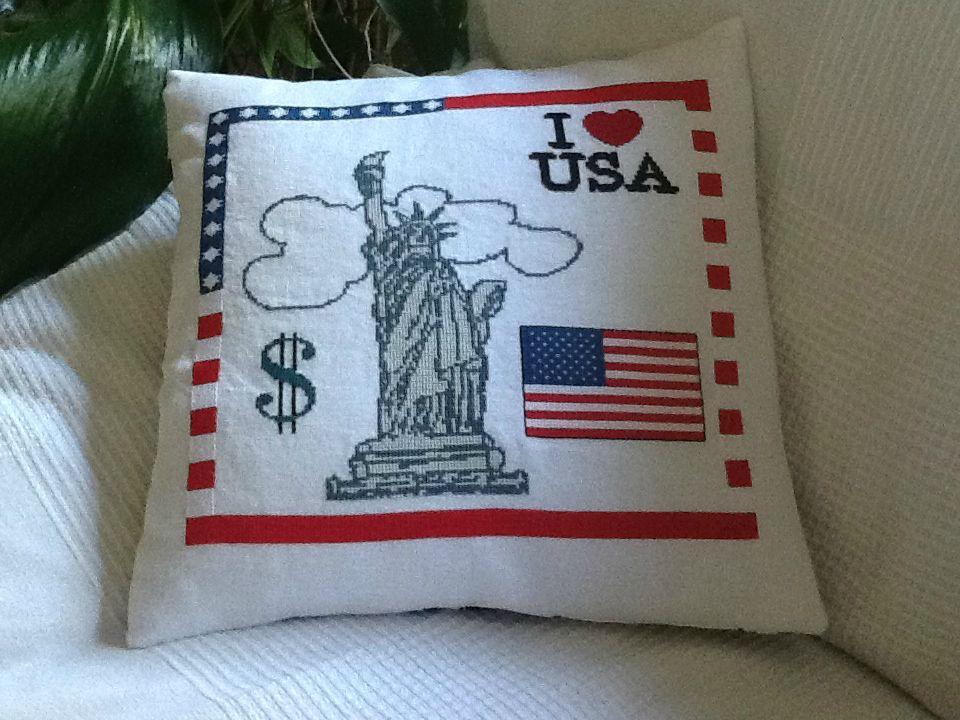 Coussin I Love USA