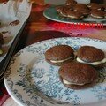 macarons ratés chocolat, ganache chocolat blanc