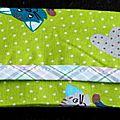 Du vert ... des chats ... des pois ... une touche d'écossais pastel ... une <b>pochette</b> <b>à</b> <b>mouchoirs</b> !
