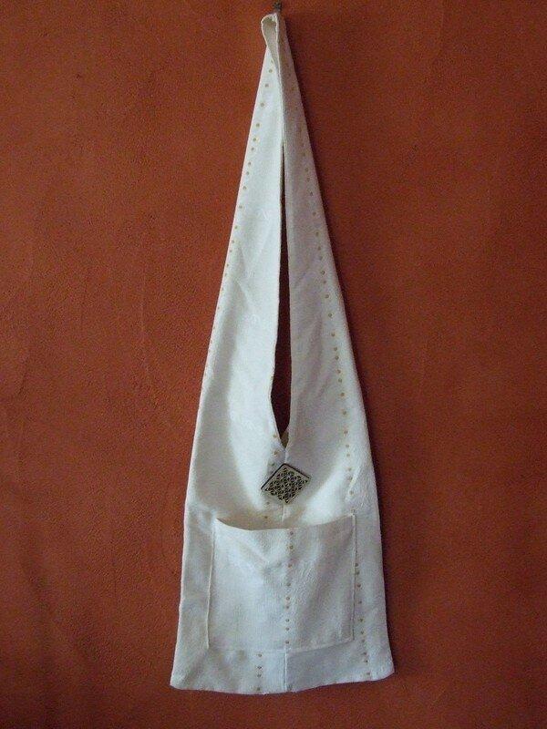 sac à main blanc cassé