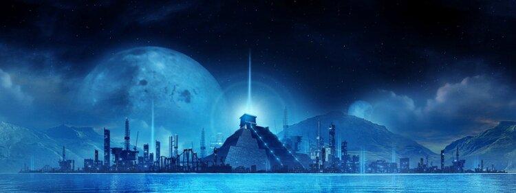 L'Agharta : la montagne bleue du kaf et le peuple de Gog et Magog .