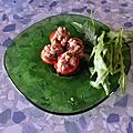 Mini tomates farcies au <b>thon</b> :