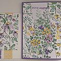 Carte et enveloppe assortie, réalisée avec les papiers Fleurs en croquis