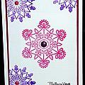carte de voeux avec flocons colorés