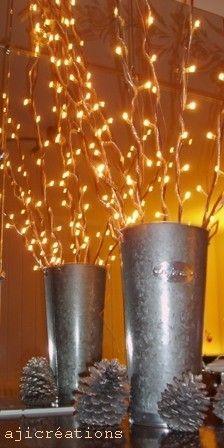 gerbe de bambou illuminée