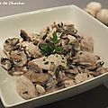 Filets de poulet aux champignons de paris