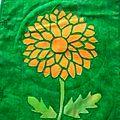 Carnet textile page octobre