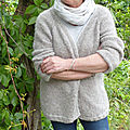 GILET FEMME TOP DOWN POIDS PLUME EN ALPACA BRUSHED DE <b>DROPS</b>
